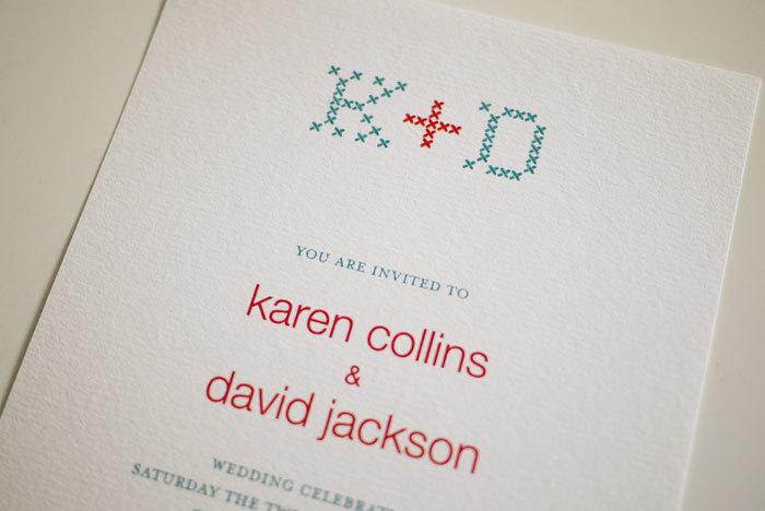 Embroidery Monogram Initials - Wedding Invitation (PRINTABLE)