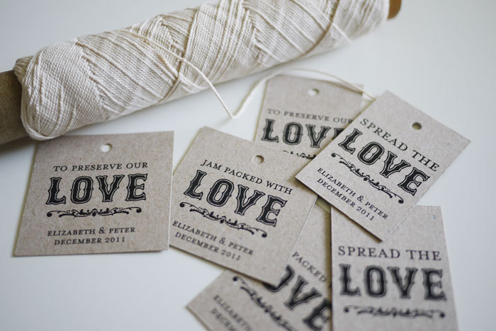 Spread the Love - Jam Packed with Love - To Preserve our Love - Personalized Favor Tags (PRINTABLE)