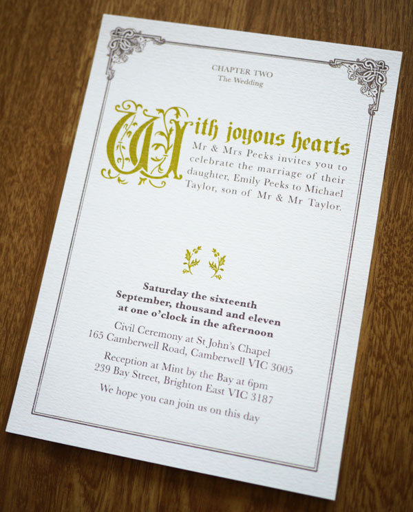 Fairy Tale Once Upon A Time Wedding Invitation Suite on Luulla