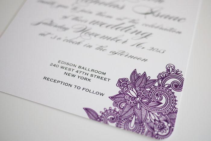 Diy Printable Wedding Invitation Mehndi On Luulla