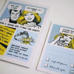 The Comic Strip - Fun Wedding Invitation Set