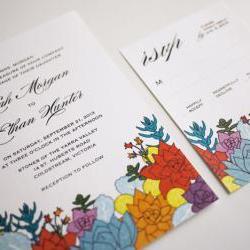 The Succulent - Wedding Invitation Set
