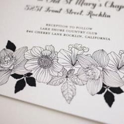 Modern Black and White Wedding Invitation ( DIY Printable Template)